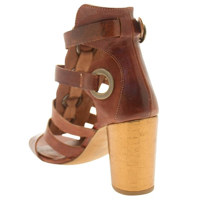 H By Hudson Womens Tan Grenada Heeled Sandals