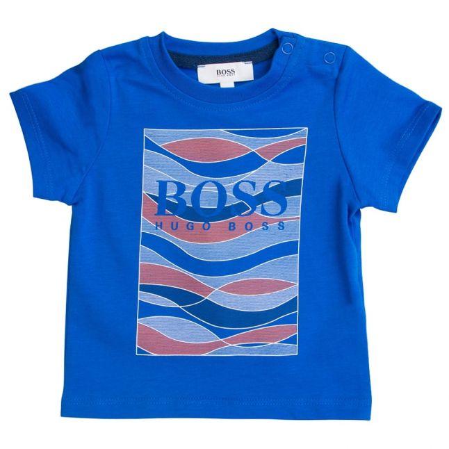Boss Boys Bright Turquoise Print S/s Tee Shirt