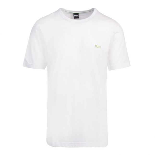 Athleisure Mens White Tee Small Logo S/s T Shirt