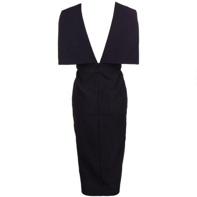 Womens Black Polygon Midi Dress