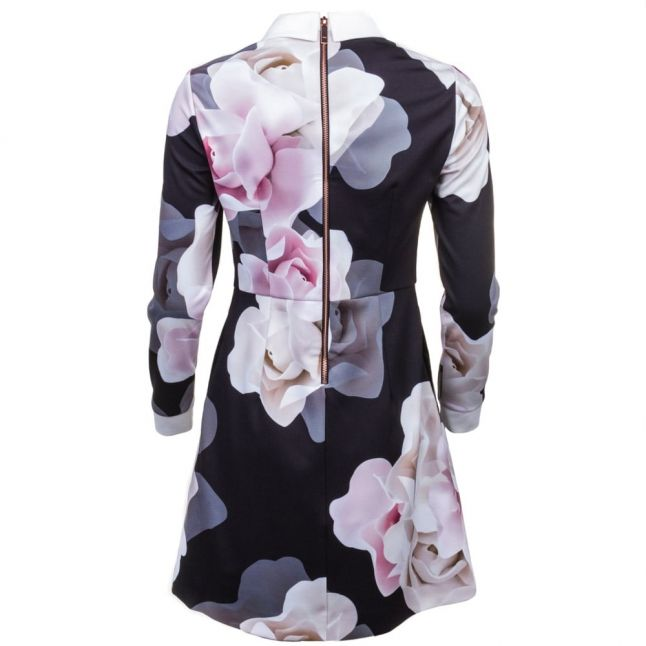 Womens Black Lascii Porcelain Rose Printed Collar Dress