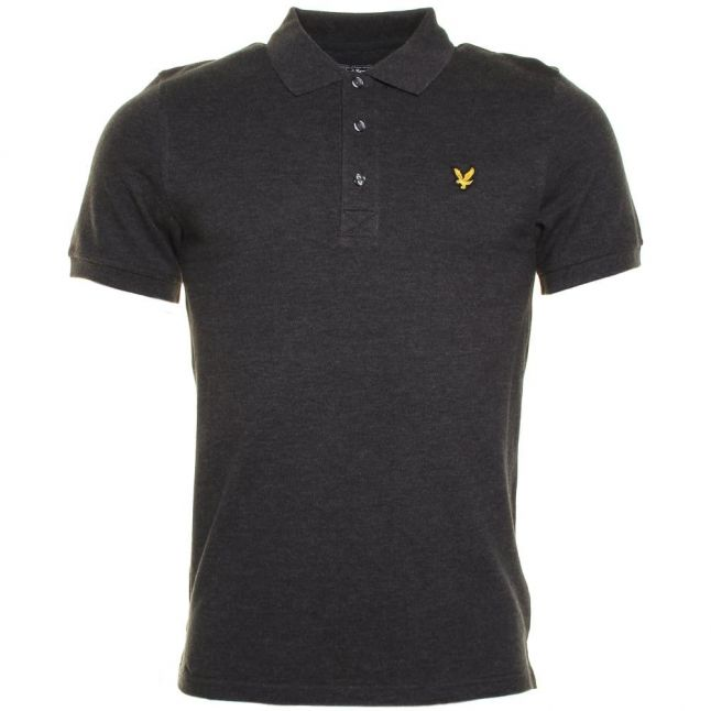 Mens Charcoal Classic S/s Polo Shirt
