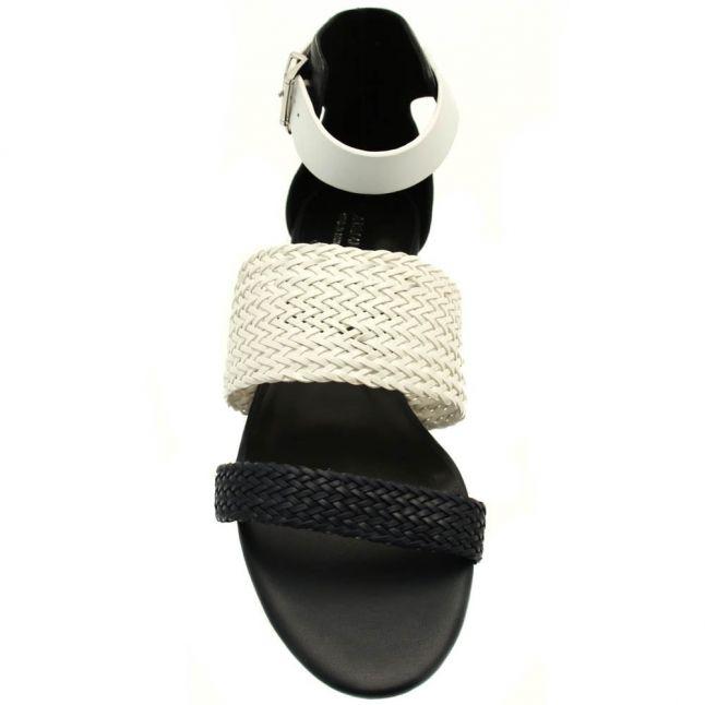 Womens Blue Woven Strap Sandals