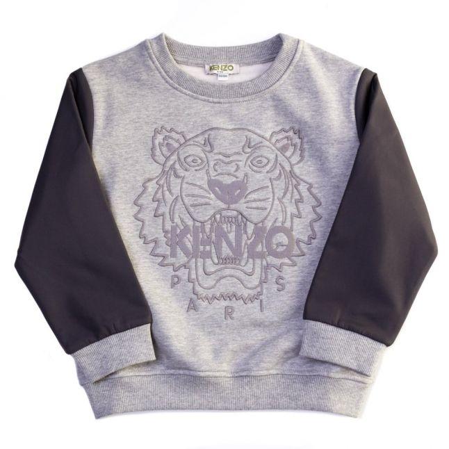 Boys Marl Grey Akira Tiger Sweat Top