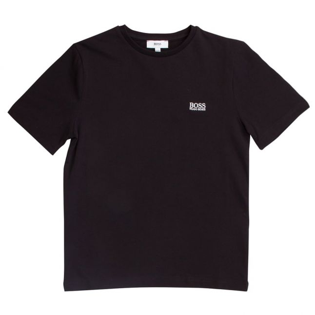 Boys Black Small Logo S/s T Shirt
