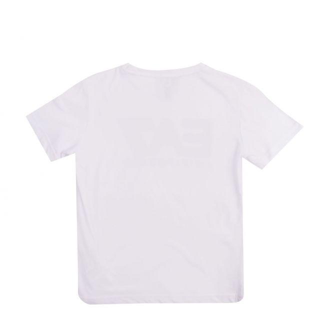 Boys White Big Logo S/s T Shirt