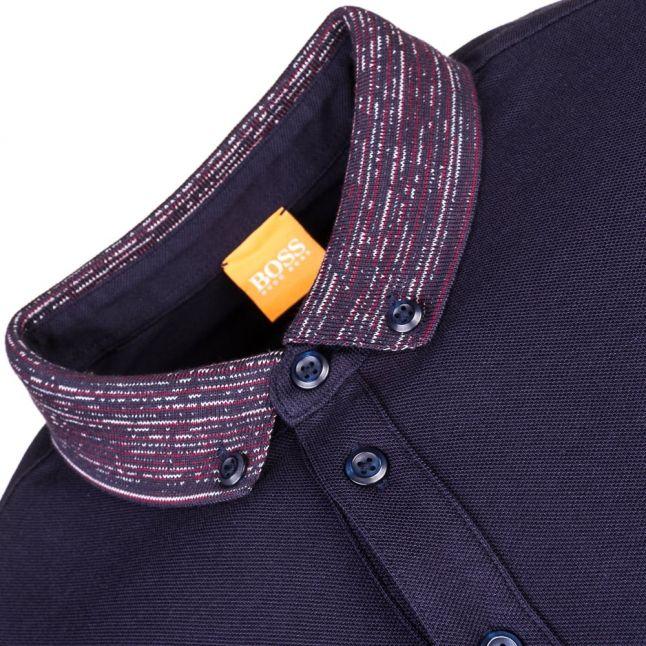 Mens Dark Blue Pilipe S/s Polo Shirt