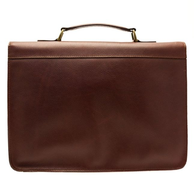 Lifestyle Mens Brown Leather Satchel