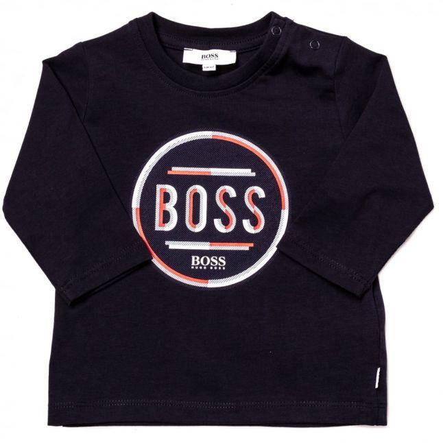 Baby Navy Circle Logo L/s Tee Shirt