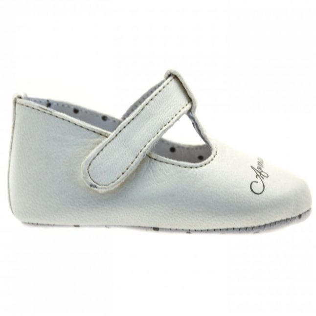 Baby White Ballet Flat Shoes (15-19)