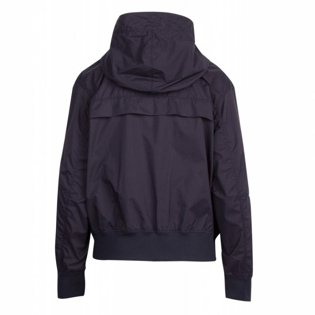 Womens Blue Black Lysaker Hooded Jacket