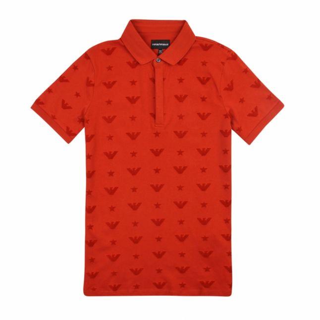 Boys Terracotta Flock Eagle S/s Polo Shirt
