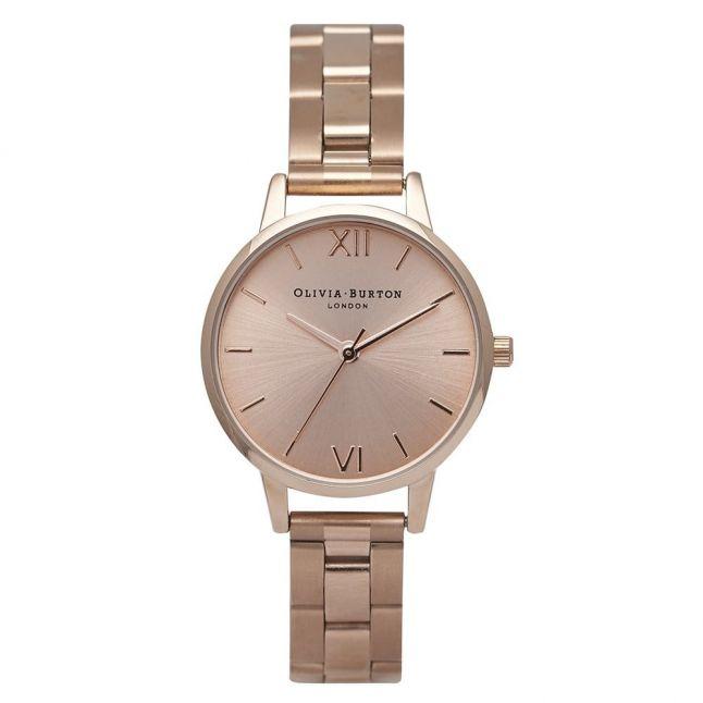Womens Rose Gold Midi Dial Bracelet Strap Watch
