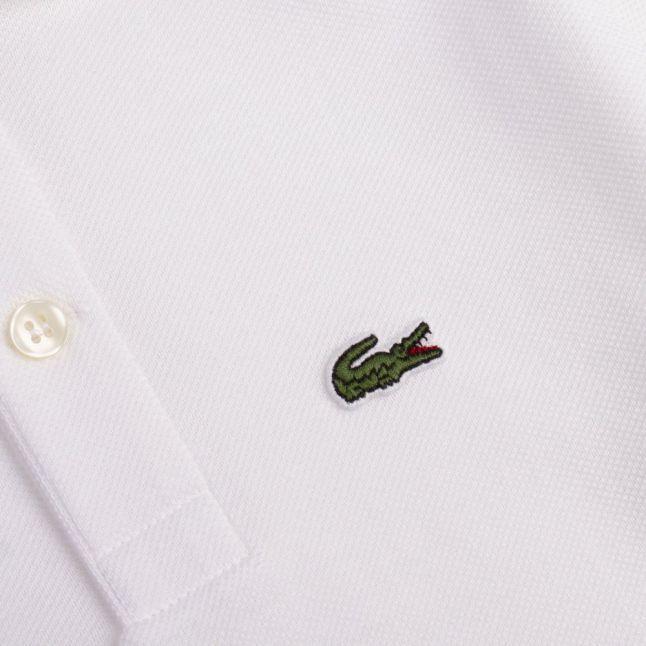 Boys White Classic Pique S/s Polo Shirt