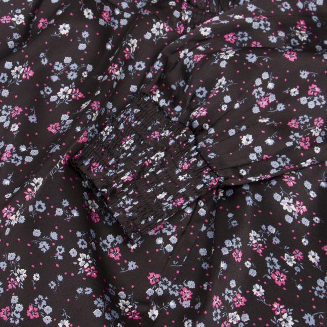 Womens Black Vidago Floral Midi Dress