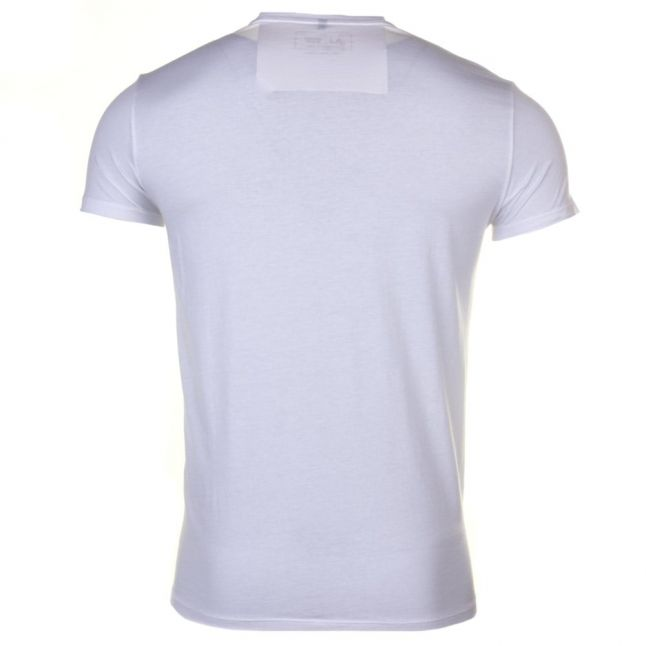 Mens White Eagle Chest Logo Slim Fit S/s Tee Shirt