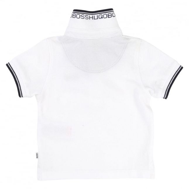 Baby White Tipped S/s Polo Shirt