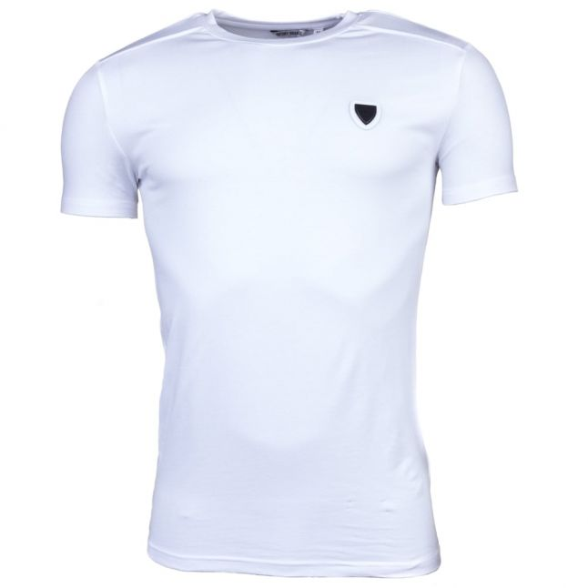 Mens White Silver Label Shield S/s Tee Shirt
