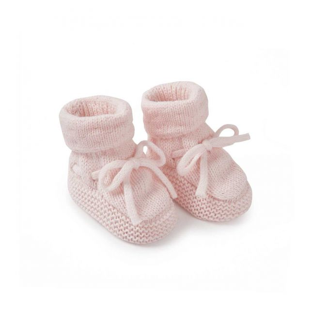 Baby Pink Knitted Booties