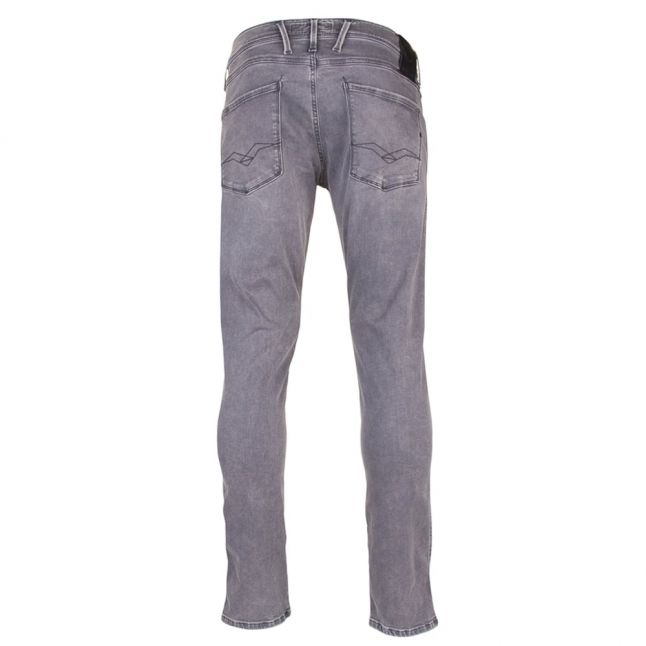 Mens Grey Wash Anbass Slim Fit Jeans