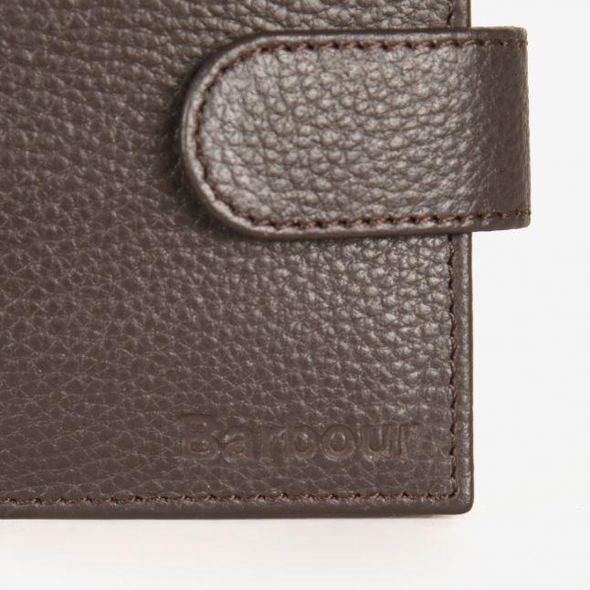 Mens Dark Brown Amble Zip Wallet