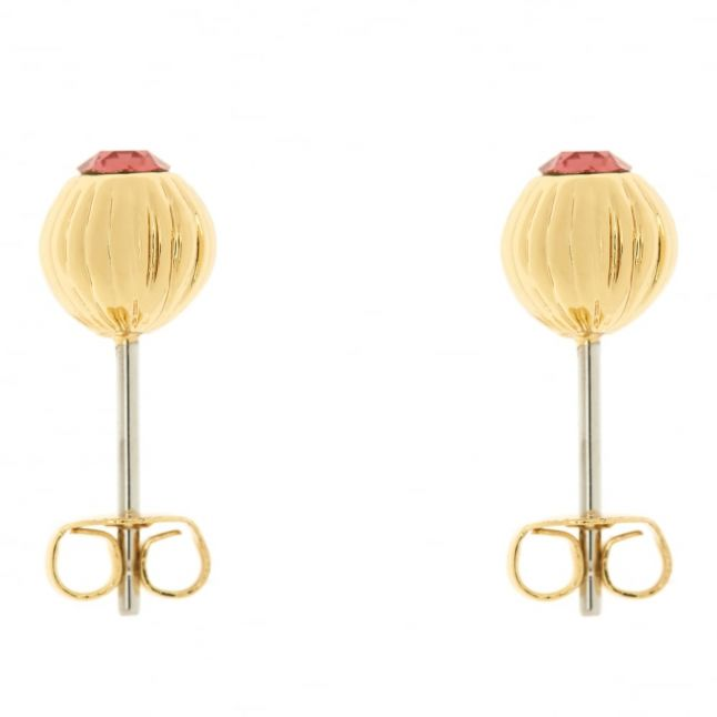 Womens Gold & Indian Pink Aubree Studs