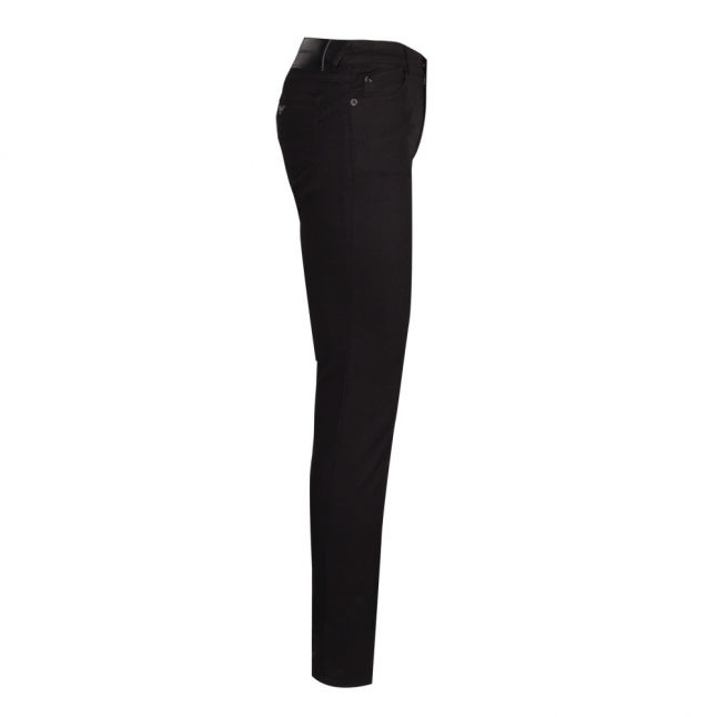 Womens Black J23 Mid Rise Push Up Skinny Fit Jeans