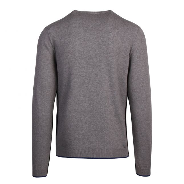 Athleisure Mens Light Grey Riston Crew Neck Knitted Jumper