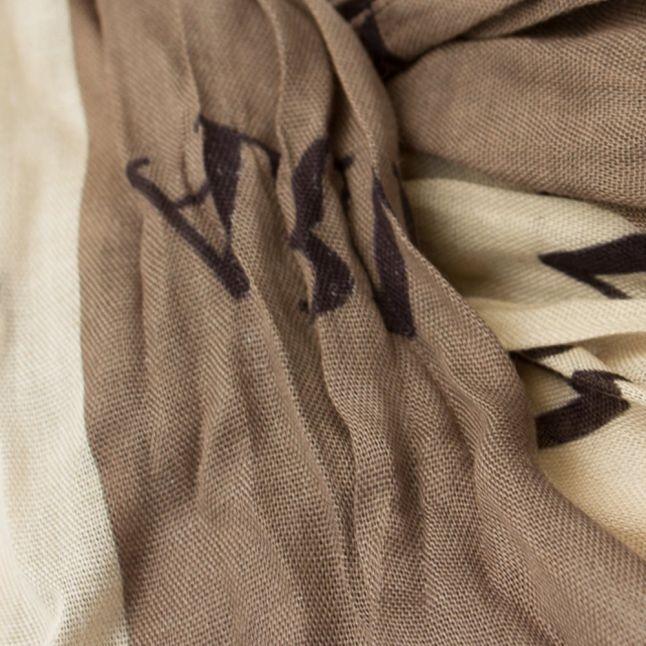 Womens Grey Multi Logo Scarf