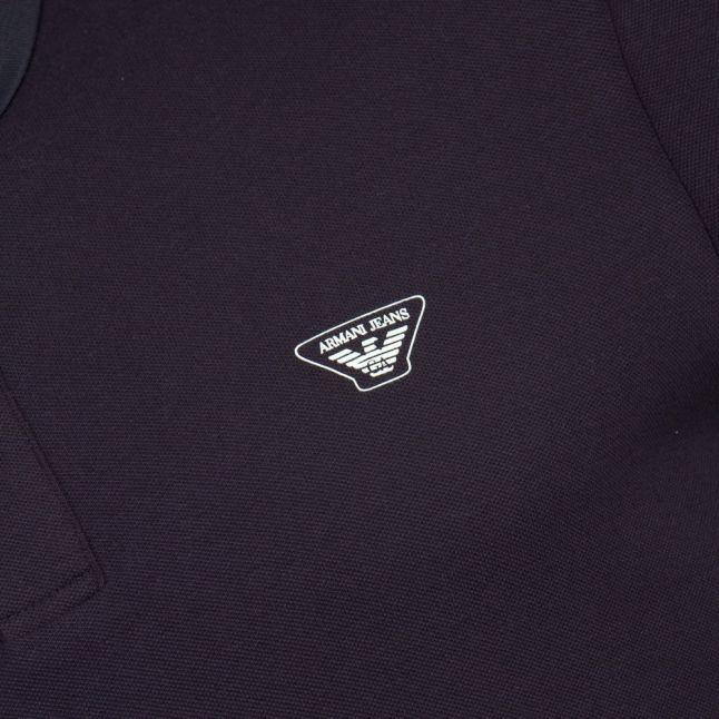 Mens Blue Trim S/s Polo Shirt