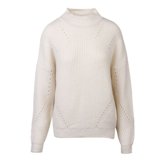 Womens Whisper White Vibirth Turtle Neck Knitted Jumper
