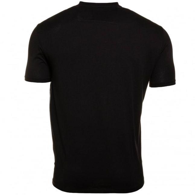 Mens Black Vertical Logo Regular Fit S/s Tee Shirt