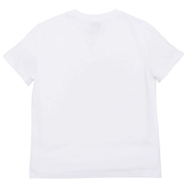 Girls White/Pink Core Tiger S/s T Shirt