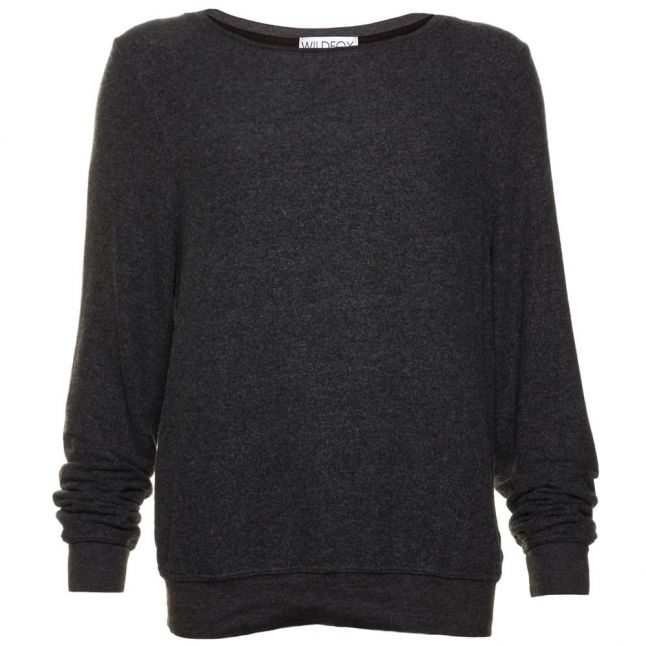 Womens Clean Black Essentials Baggy Beach Jumper