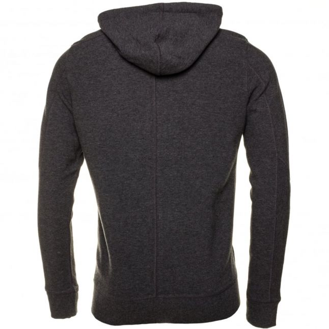 Mens Grey S-Tad Zip Hooded Sweat Top
