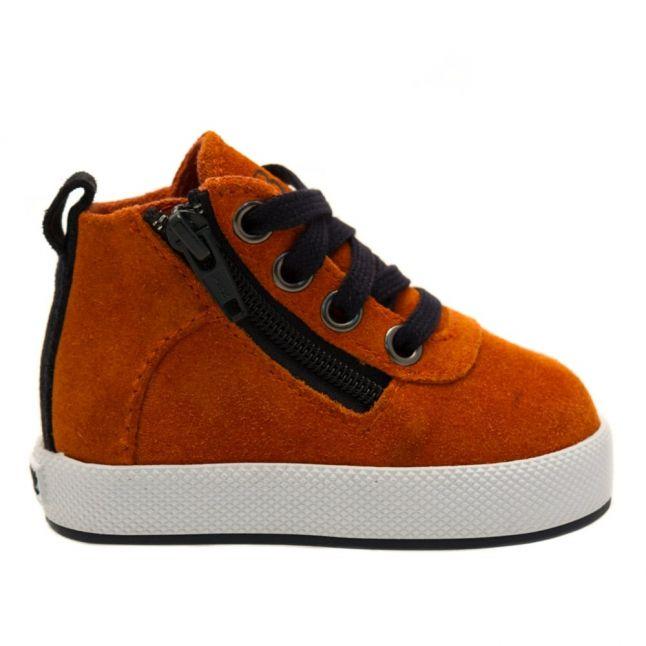 Baby Orange Suede Hi Tops (17-26)