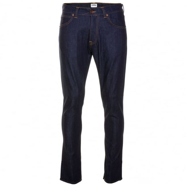 Mens 11oz Blue Unwashed ED-85 Slim Tapered Low Crotch Jeans