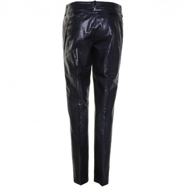 Womens Blue Jacquard Trousers