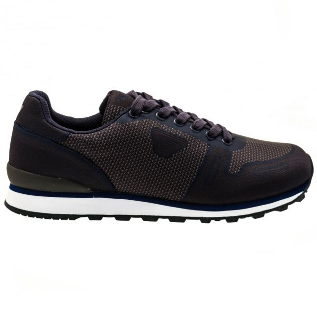 Mens Blue Woven Trainers