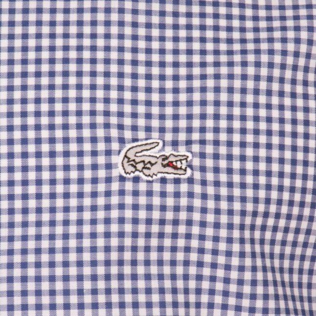 Mens Blue Gingham L/s Shirt
