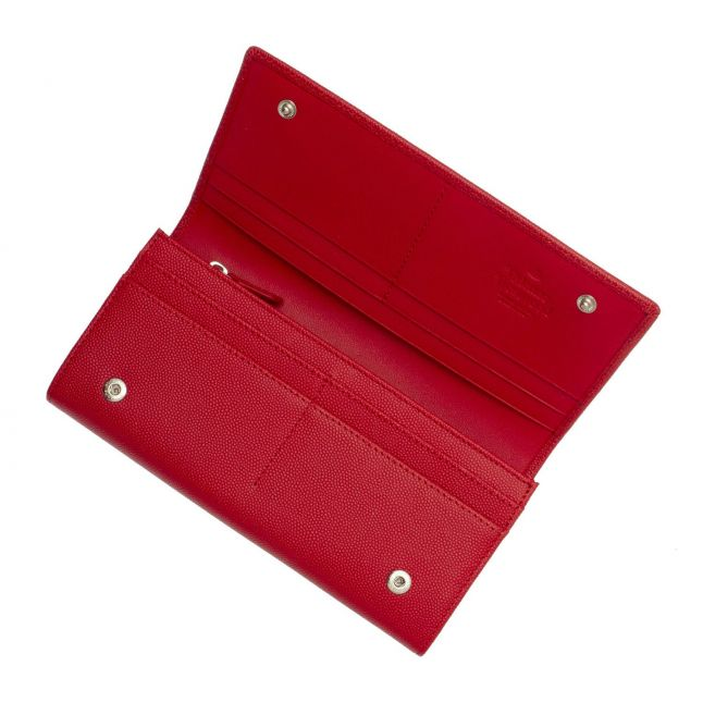 Womens Red Windsor Leather Long Card Purse
