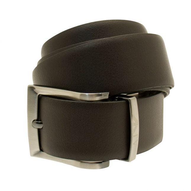 Mens Brown Reversible Leather Belt
