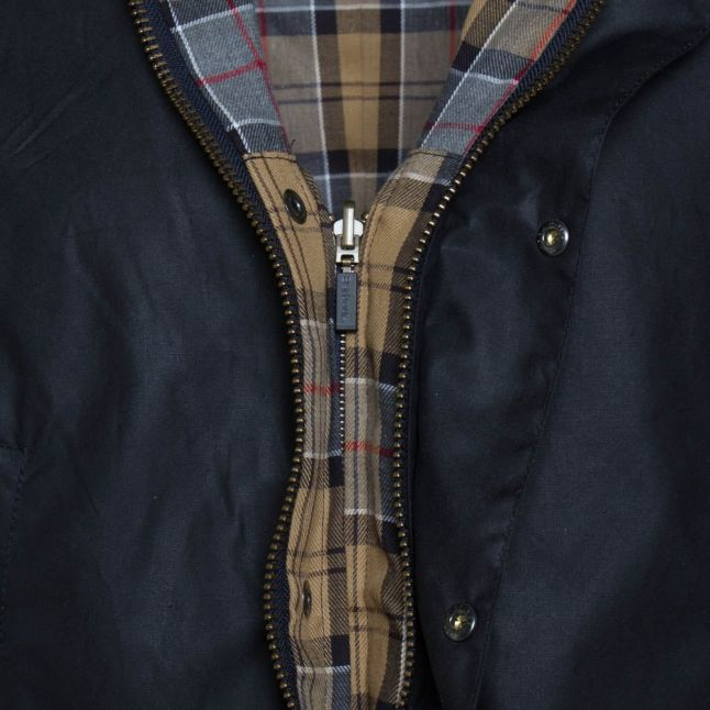 Lifestyle Mens Navy Ashby Waxed Jacket