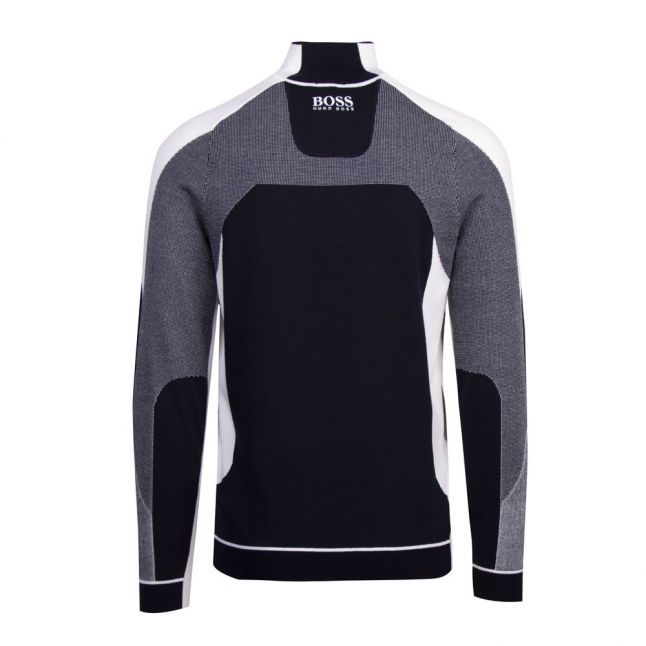 Athleisure Mens Navy Zordi 1/2 Zip Knitted Top