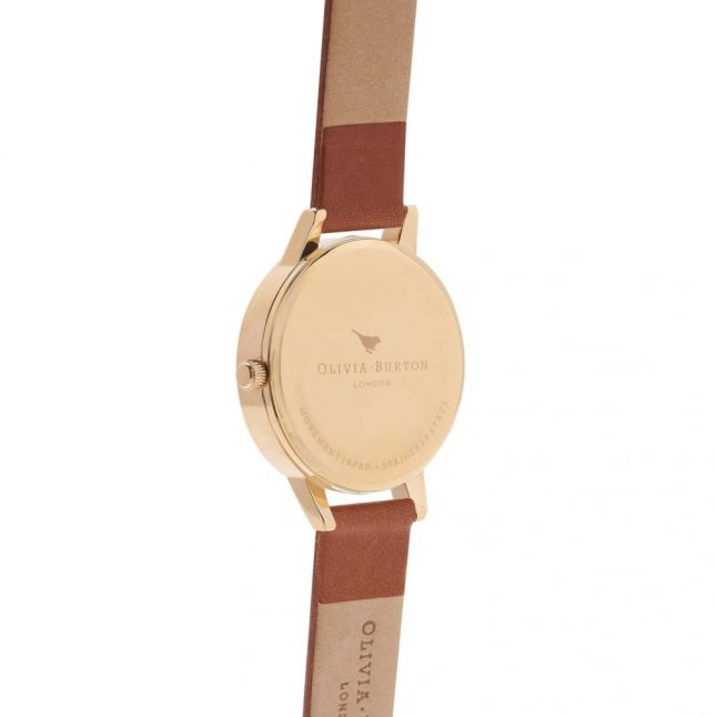 Tan & Gold Midi Dial Watch