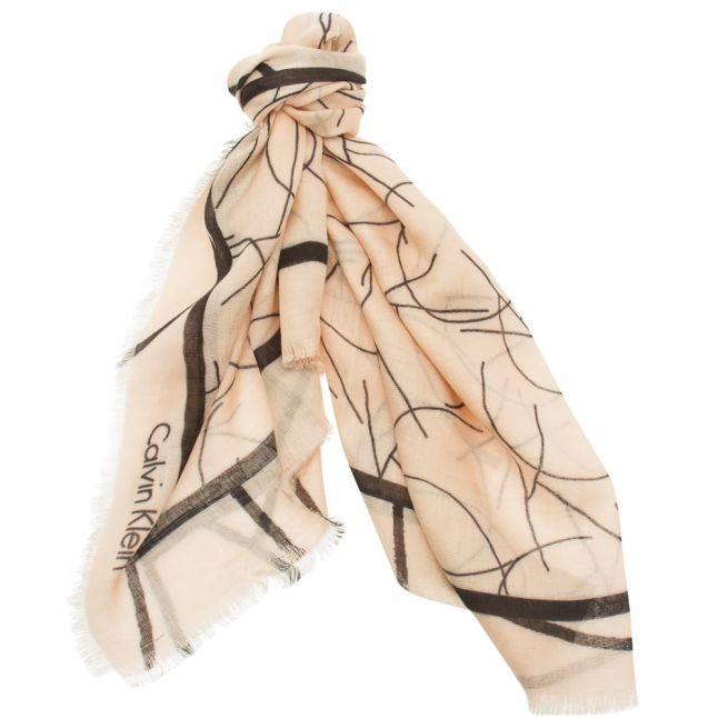 Womens Pale Dogwood Artisan Logo Scarf