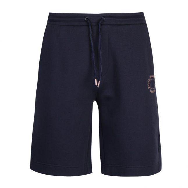 Athleisure Mens Navy Halboa Circle Sweat Shorts