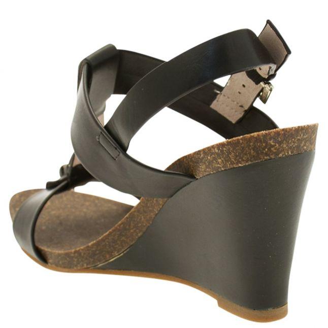 Womens Black Palba Wedge Sandal