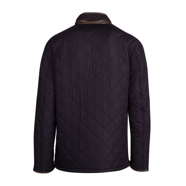 Mens Navy Powell Quilted Jacket