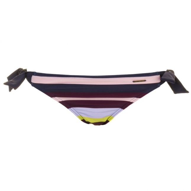 Womens Navy Modise Modern Stripe Tieside Bikini Pants